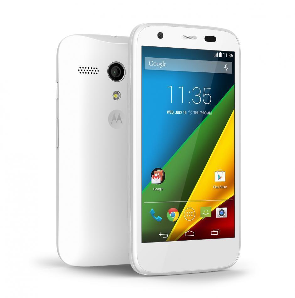 Motorola Moto E 4G en blanco
