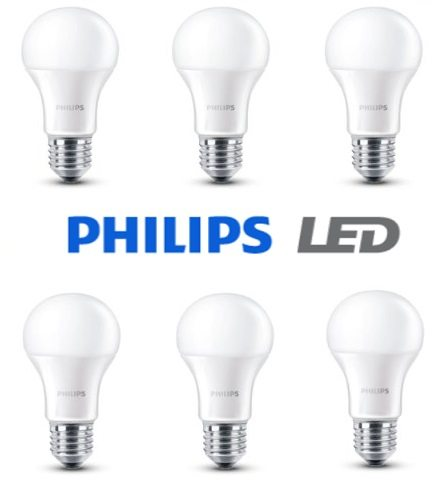 Pack de 6 bombillas LED Philips