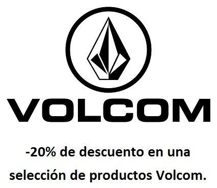 -20% de descuento en una selección de productos Volcom. Exclusivo para clientes Premium