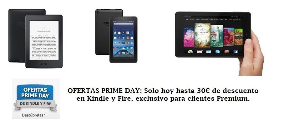 hasta 30 € de descuento en Kindle y Fire, exclusivo para clientes Premium.