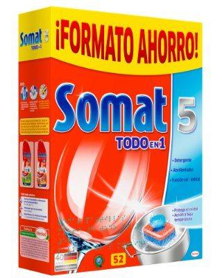 Pastillas detergente Somat 5 Todo En 1