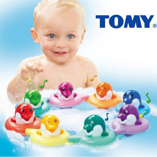 Juguete Tomy Do Re Mi Dolphins Bath Toys