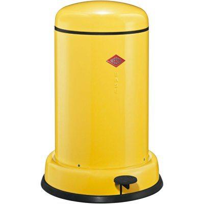 Cubo de basura Wesco amarillo clasico