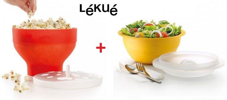 Lékué pack - Recipiente para cocinar palomitas y ensaladera