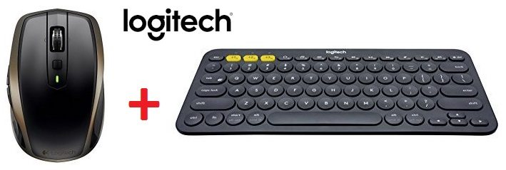 Logitech - Teclado Bluetooth K380 + Ratón inalámbrico MX Anywhere 2 Mouse