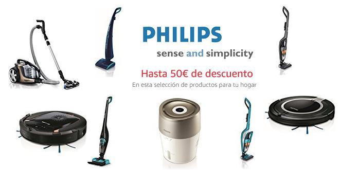 ¡Promoción Philips Hogar! Hasta 50€ de descuento en aspiradores y robots de limpieza