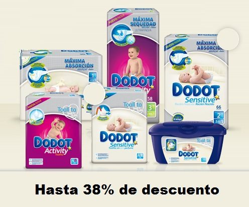 Hasta 38% en una selección de Dodot Sensitive y Activity