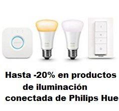 Hasta -20% en productos de iluminación conectada de Philips Hue
