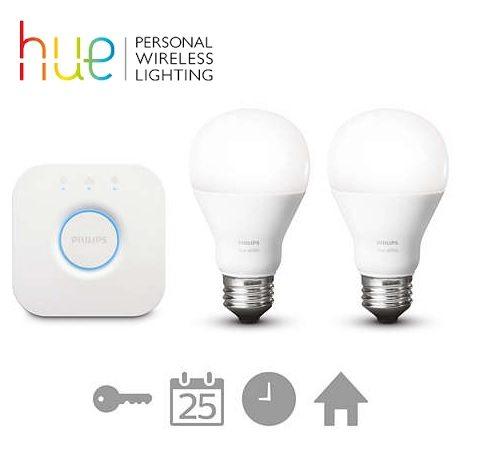 Philips Hue White - Pack de 2 bombillas