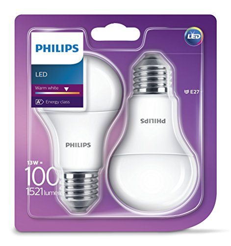 Philips 929001234561 - Pack de 2 bombillas LED estándar