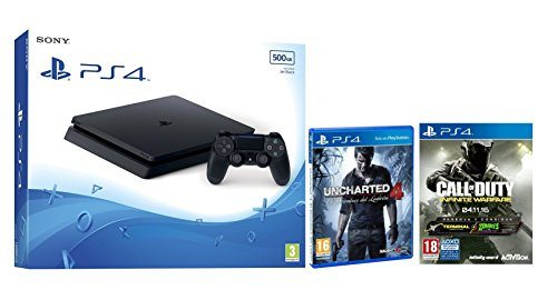 PS4 Slim 500GB + Call Of Duty: Infinite Warfare + Uncharted 4