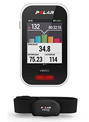Polar V650 HR - Ciclocomputador de ciclismo con GPS y trasmisor de frecuencia cardíaca H6