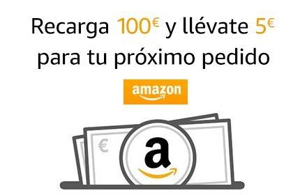 Recarga 100€ y llévate 5€ de regalo para tu próximo pedido