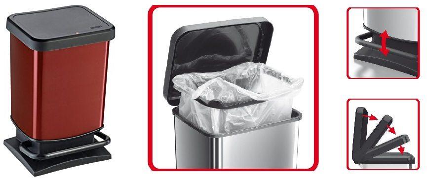 Cubo de basura ROTHO Paso de 20 litros