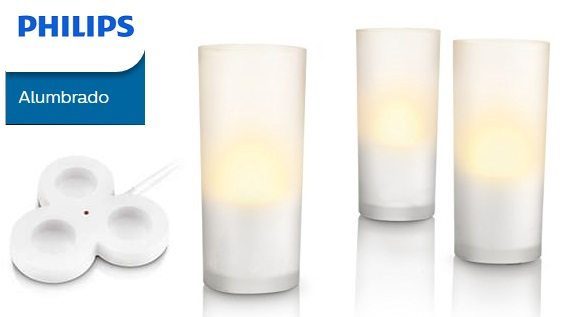 Set Philips Accents CandleLights de 3 lámparas LED