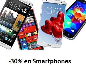 Hasta un -30% en una selección de Smartphones Libres