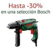 Hasta -30% en una selección Bosch