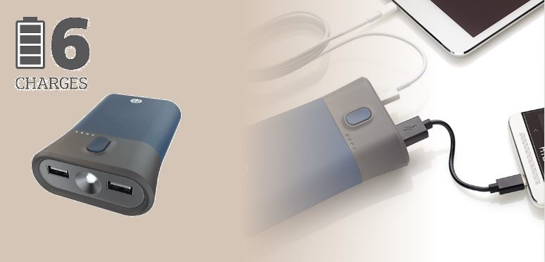 iFrogz Golite Traveler - Cargador portátil de 9000 mAh y linterna