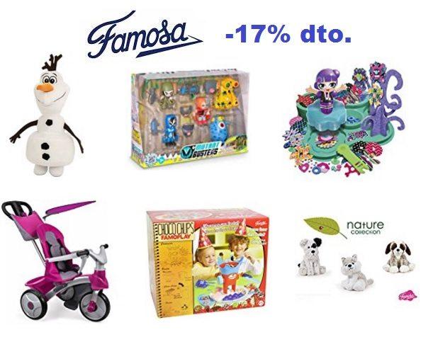 -17% en una selección de juguetes de Famosa