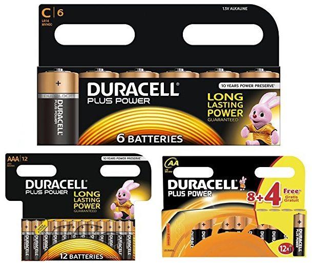 Packs Duracell plus power pilas alcalinas