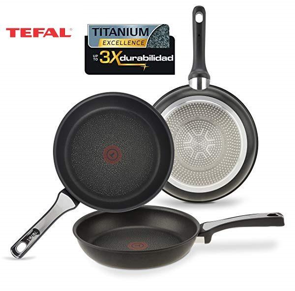 Tefal Expertise - Set de 3 Sartenes de aluminio de 21, 24 y 26 cm