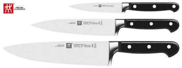 Zwilling PROFESSIONAL S - Set de 3 cuchillos, puntilla, fileteador y cebollero
