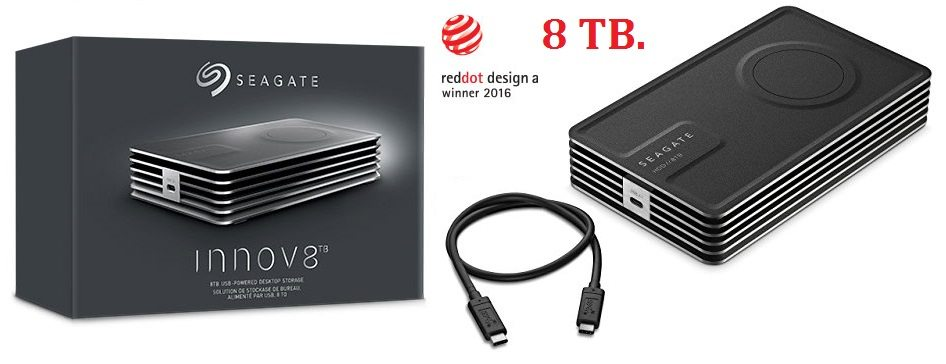 Seagate Innov8 - Disco duro de sobremesa 8 TB para PC y MAC (USB-C)