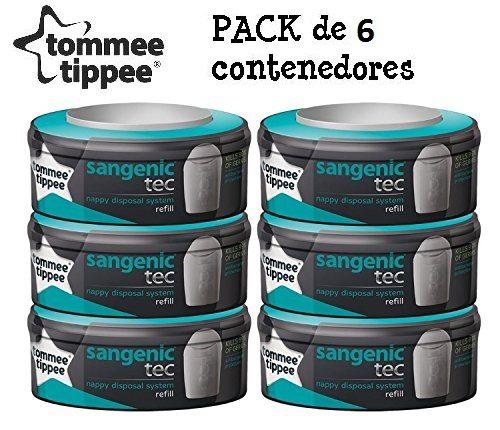 Tommee tippee pack de 6 recambios Sangenic Tec