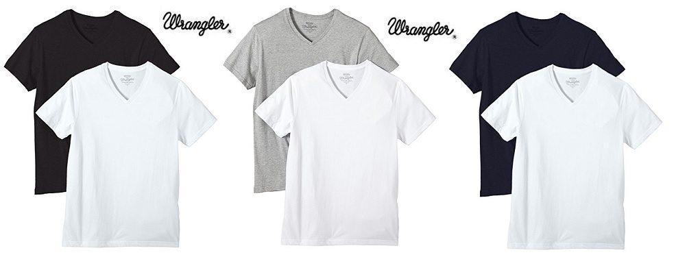 Wrangler Pack de dos camisetas básicas de cuello pico