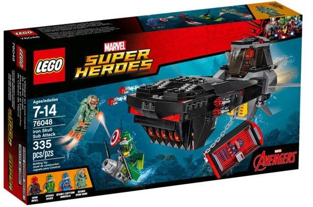 Lego Super Heroes Ataque en el submarino de Cráneo de Hierro