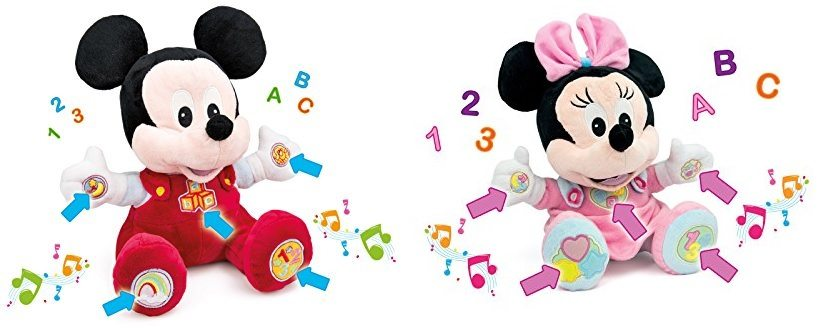 Peluche Baby Minnie y Mickey