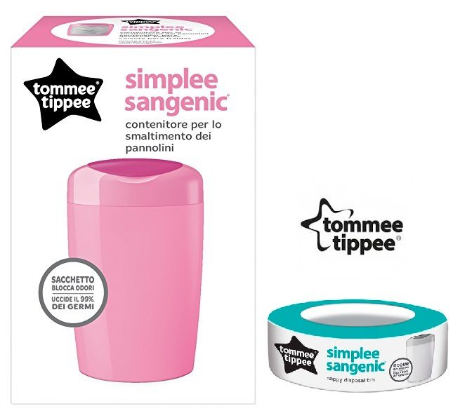 Contenedor de pañales Tommee Tippee Simplee Sangenic