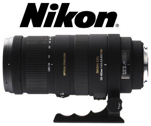 Sigma 120-400 / 4,5-5,6 DG OS APO HSM - Objetivo para Nikon