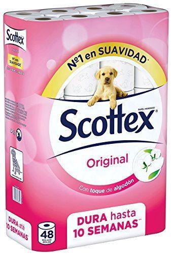 Pack de 48 rollos Papel Higiénico Scottex Original