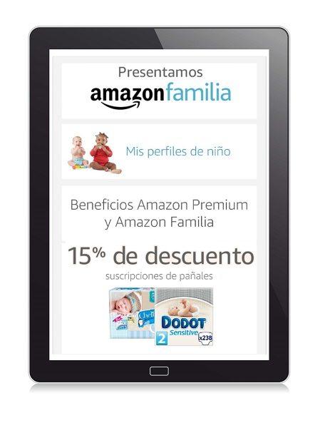 Amazon.es lanza Amazon Familia: 15% de descuento en pañales.