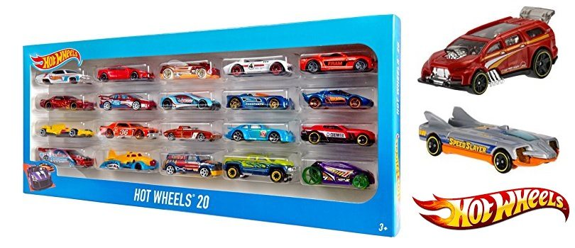 Pack 20 vehículos Hot Wheels de Matte
