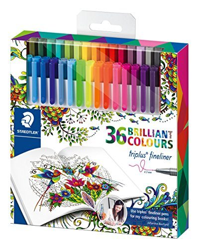 Staedtler 334 C36JB - Pack de 36 rotuladores, multicolor