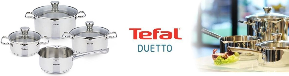Tefal Duetto A705A834 - Batería 7 piezas