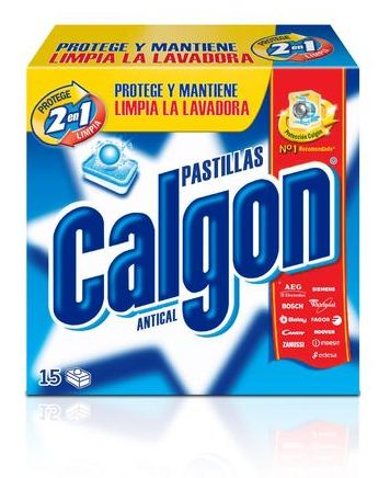 Calgon 15 Pastillas Antical 2 en 1
