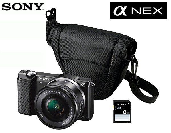 Camara Sony Nex ILCE-5000L con Lente SELP1650 mas funda y tarjetaSD