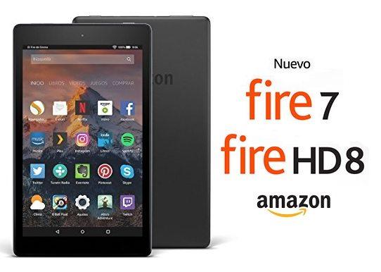 Nuevas Fire 7 y Fire HD 8 de Amazon