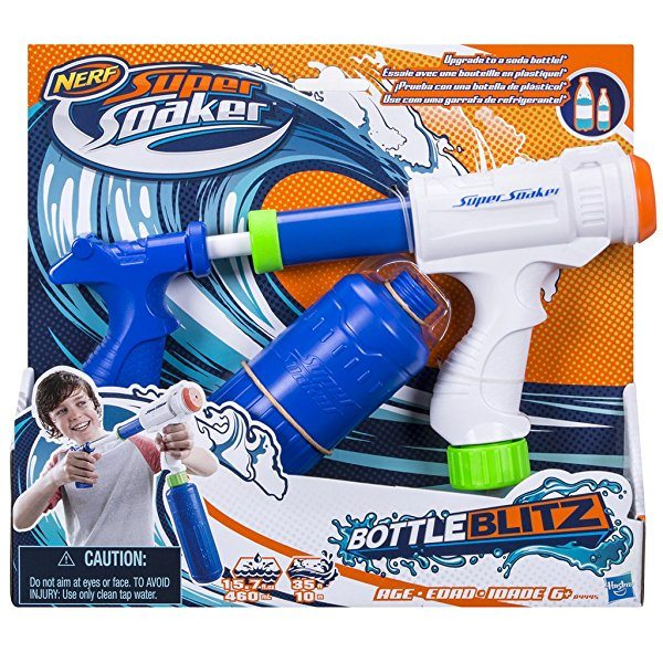 Pistola de agua Nerf Super Soaker Bottle Blitz 2.0
