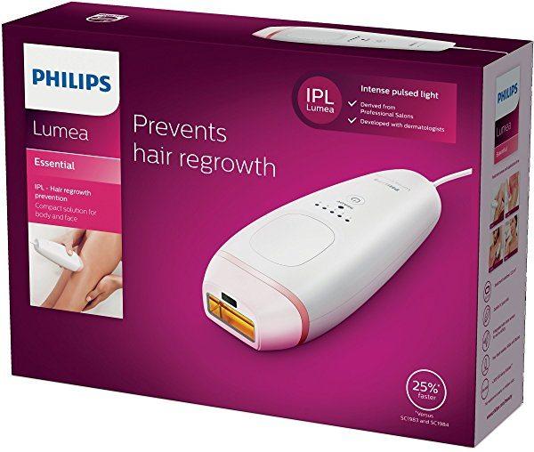 Philips Lumea Essential BRI861/00 - Depiladora IPL por luz pulsada para cuerpo