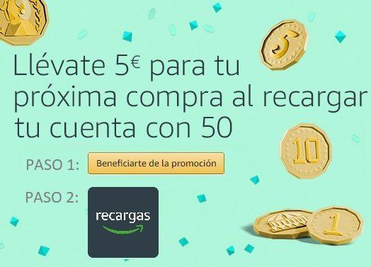 Llévate 5 euros para tu próxima compra en Amazon