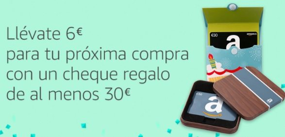 Llévate 6 euros para tu próxima compra con un cheque regalo