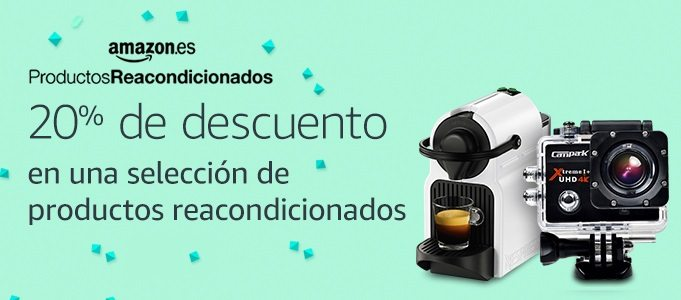 Amazon Productos Reacondicionados 20% descuento