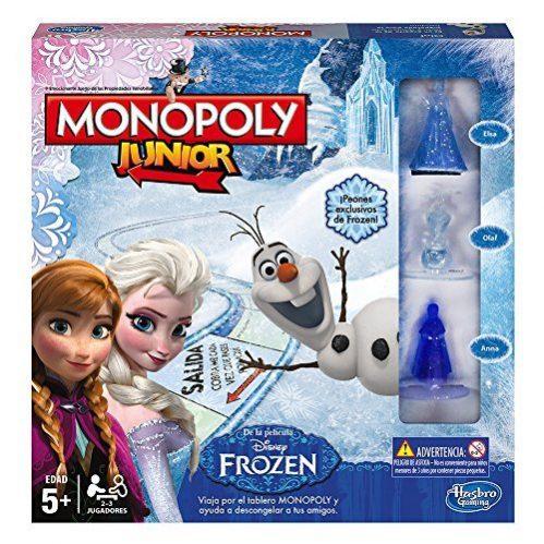 Hasbro - Juego de mesa Monopoly Junior con diseño Frozen