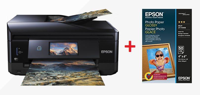 Impresora Epson Expression Premium XP-830 + Papel fotográfico