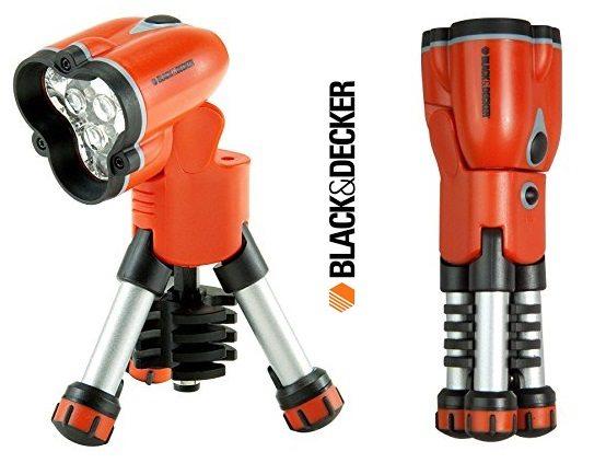 Linterna LED con tripode Black and Decker BDHT0-71626