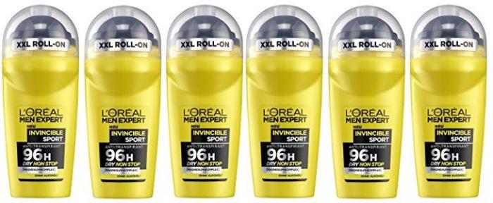 Pack de 6 desodorantes L'Oréal Men Expert Invincible Sport